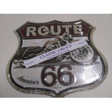 ROUTE 66 SHIELD METAL SIGN