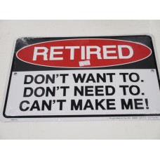 MAN CAVE RETIRED METAL SIGN