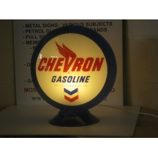 CHEVRON GASOLINE  PETROL GLOBE